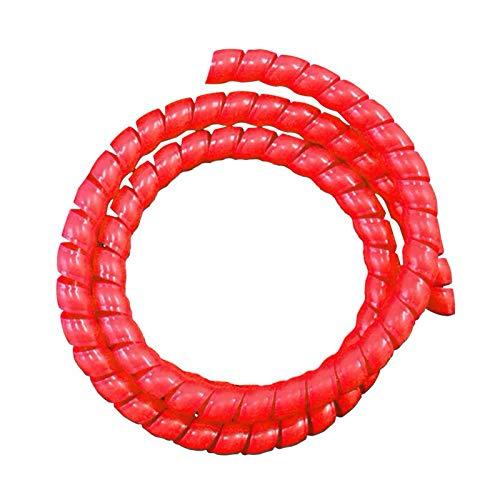 amalibay Organizador Cables, 2M Espiral Cubre Cable Bridas Cortable, Antienvejecimiento Flexible Recoge Cables para Escritorio, PC Escritorio, Oficina, Hogar (Rojo)