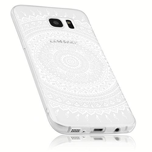 mumbi Hülle kompatibel mit Samsung Galaxy S7 Handy Case Handyhülle mit Motiv Mandala, transparent