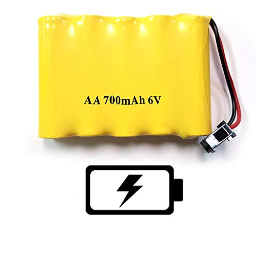 6V 700mAh Ni-cd Replacement Battery Part Compatible with Haktoys HAK123 RC Stunt Car, HAK142 RC Motorcycle, HAK255 RC Police Car, S288 RC Sports Car, and More