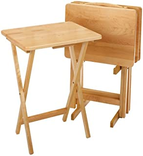winsome wood 5 piece tv table set natural
