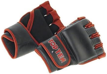 Top Ten Grappling Handschuhe TOP TEN schwarz rot M B002RGVMPC   | Vorzugspreis