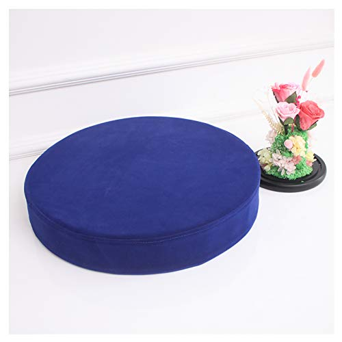 Round Chair Pad Indoor Outdoor Seat Pad Cushions,Velvet Semi-Open 35D Hardness Sponge Round Cushion for Yoga Window Tatami Home Office Pad 2'(5cm) thick Multi-size color-Dark blue 70x5cm(27.6x2in)