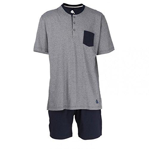 Ceceba Herren Shorty, 3-Knopfv. Zweiteiliger Schlafanzug, Blau (Navy Blaze 8435), Medium (Herstellergröße:50)
