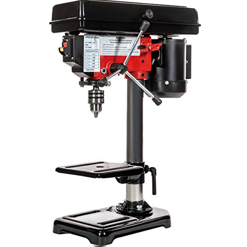Stark 8-inch Drill Press Variable 5 Speed Stationary Bench 1/3 HP Motor Adjustable Workbench Wood Drilling 300w