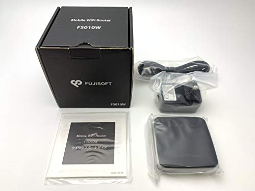 『LTEモバイルWiFiルーター FS010W (ブラック) 標準SIM用ルーター』のトップ画像