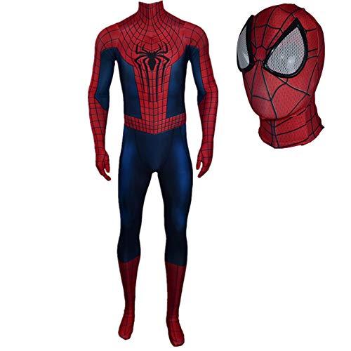 ZYZQ The Amazing Spider-Man Cosplay Disfraces Avengers Superhero Spiderman Body Sumpsuit Halloween Fancy Dress Onesies 3D Lycra Spandex Zentai,Blue-Men~S(155~160cm)