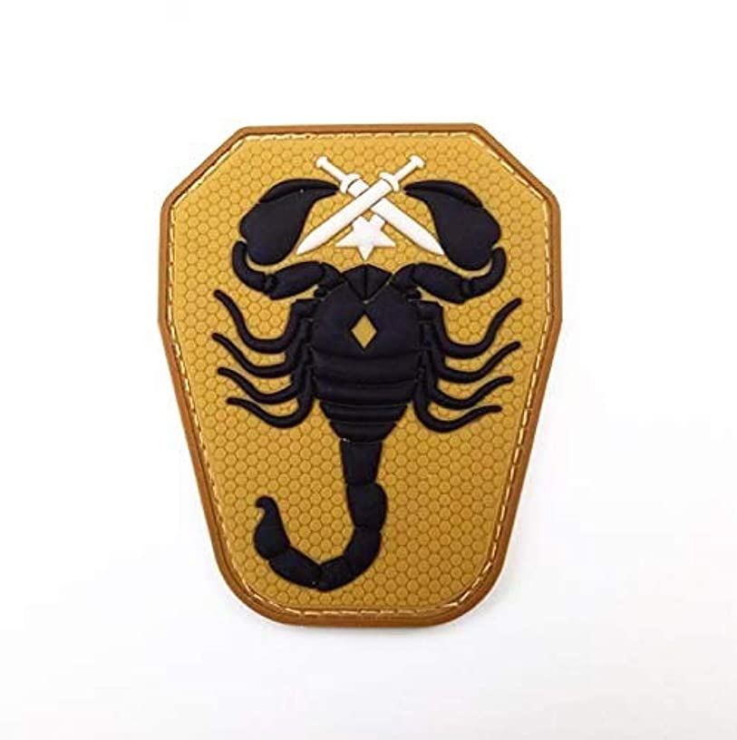 Morton Home Scorpion Unit 3D PVC US Army USA Military Tactical ACU Dark Morale Patch (Yellow)