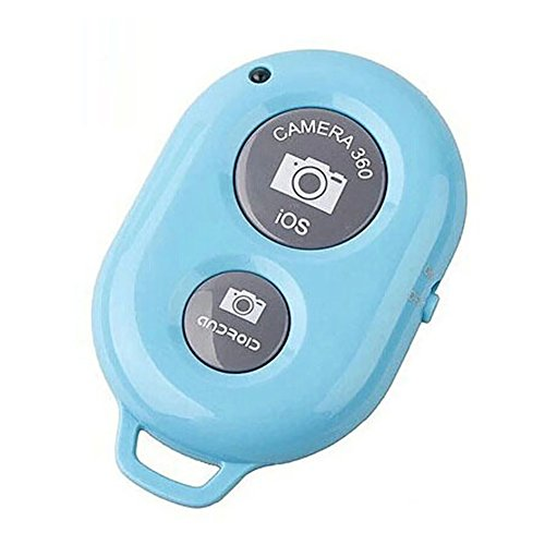 preliked Wireless Bluetooth Camera Remote Control Selfie Shutter for Mobile Phone Monopod (Blue)