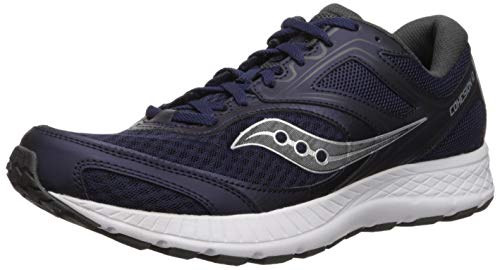 Saucony Men's Versafoam Cohesion 12 Road Running Shoe, Navy, 12.5 M US