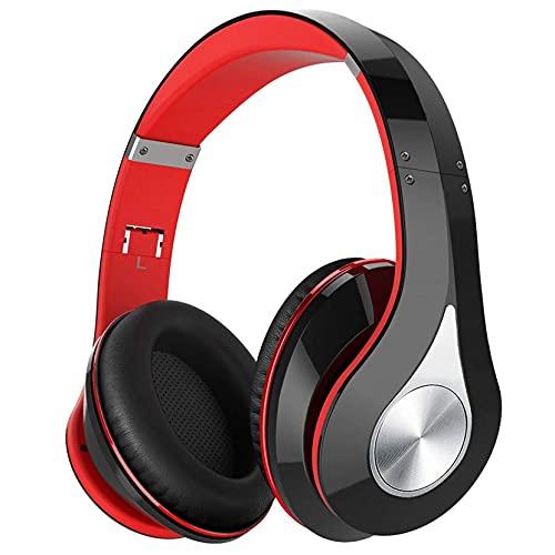 Over Ear Kopfhörer Kabellos, [65H Spielzeit] Wireless & Wired BT5.0 Headphones, HiFi-Stereo und Tiefer Bass, Bloototh Kopfhörer mit CVC 6.0 Mikrophon, Kopfhörer Wireless für Handy PC TV