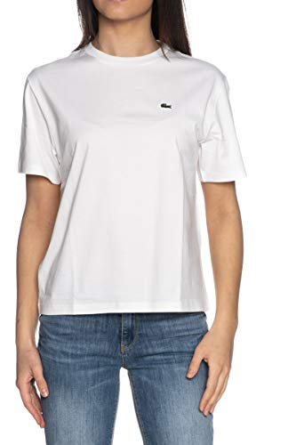 Lacoste TF5441 Camiseta, Blanc, 40 para Mujer