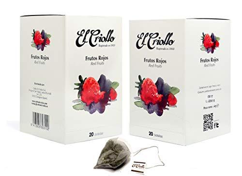 El Criollo - Infusión Frutos Rojos Gourmet | Pack de 2x20 (40 bolsitas)