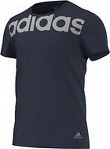 adidas T-Shirt Essentials Linear tee - Camiseta, Color Azul (Collegiate Navy/mgh Solid Grey), Talla s