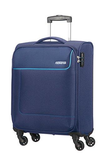 American Tourister - Funshine Spinner Bagaglio a mano, Unisex, Poliestere, Blu (Orion Blue), 36 litri, 55 cm
