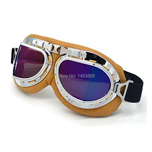 YINYAN Gafas de Sol de Ciclismo de la Motocicleta Gafas polarizadas for Hombres Protección de Ojos A Prueba de Viento Motor de Moto Gafas UV400 Accesorios