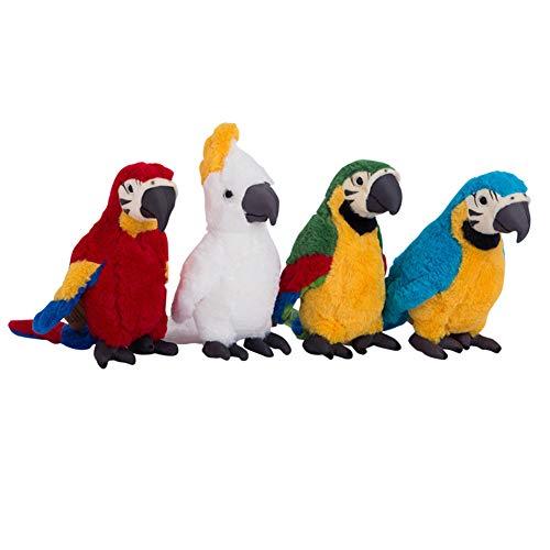 Catkoo Juguete De Peluche De Felpa, 25 Cm PP Algodón Simulación Felpa Loro Pájaro Peluche De Peluche Muñeca Niños Adultos Juguete Mesa Sofá Decoración Azul