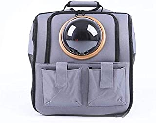 MAOSHE Pet Bag, Portable Breathable Pet Dogs Carrier Bag Outdoor Travel Puppy Cat Bag Space Pet Backpack Capsule (Color : ...