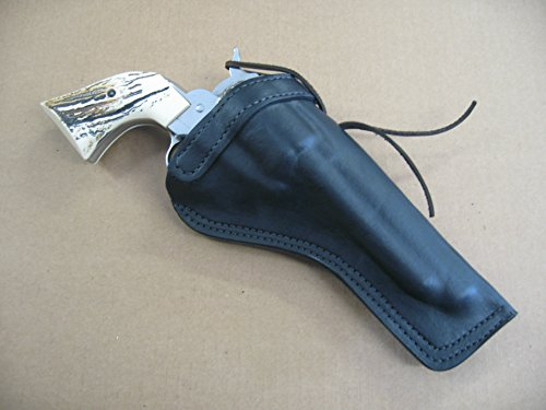 Ruger Blackhawk 6 1/2' Single Action Revolver Leather Cross Draw Holster BLACK RH