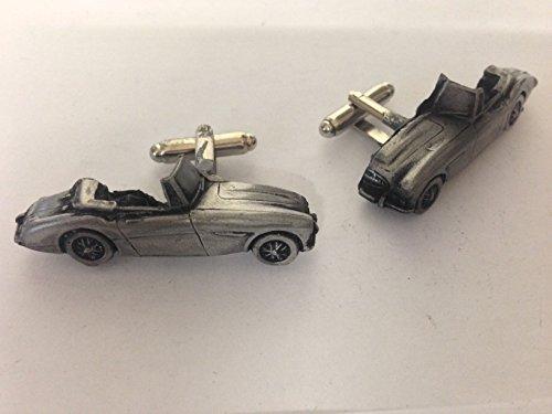 Austin Healey 3000 Mk3 3D-Boutons de manchette Homme-Classique-Bouton de manchette en étain Effet ref18