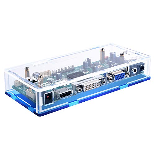 GeeekPi Acryl-Gehäuse für NT68676 HDMI+VGA+DVI+Audio-Eingang-LCD-Controller-Treiberplatine oder HSD190MEN4 M170EN06 43,2 cm 48,3 cm 1280 x 1024 4CCFL 30-Pin LCD-Panel, passend für Arcade1Up Monitor