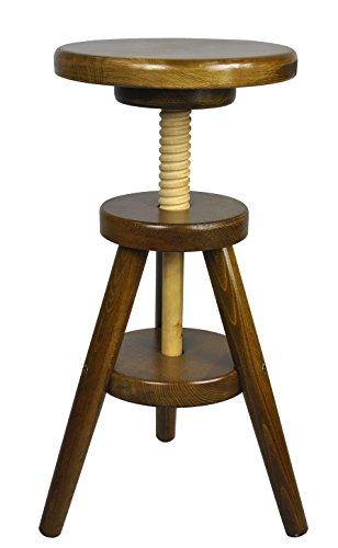 Magnetic Mobel® Hocker Massiv Schemel Stuhl Sitzmöbel Buche Drehhocker Barhocke 52-70cm (Eiche)