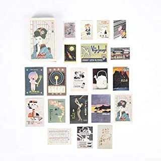 Assorted Stickers - Japanese Journal Diary Label Album Decor Vintage Stamp Stickers Retro Matchbox Scrapbooking Paper Stic...