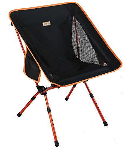 Trekology YIZI GO tragbarer Campingstuhl mit verstellbarer Höhe - Kompakter, ultraleichter, zusammenklappbarer Reisestuhl inklusive Tragetasche