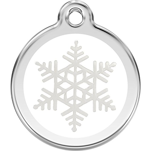 Red Dingo Personalized Snowflake Pet ID Dog Tag (Small)