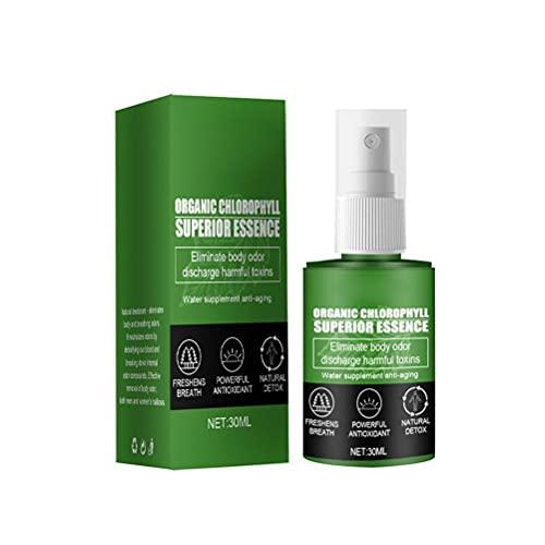 hgni 30 ml Concentrado Natural de clorofila de clorofila Drops Gotas de clorofila Liquid World Organic Chlorophyll Drops Boosters Energy Desodorante Natural para Mujeres y Hombres