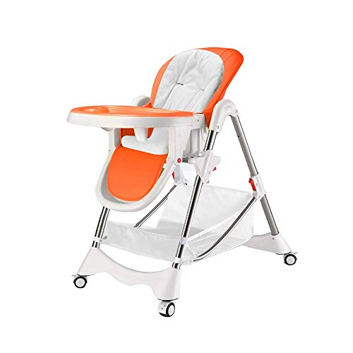 Sale!! DUWX - Portable High Chair, Multi-Function Baby Chair Folding High Chair with Storage Basket ...