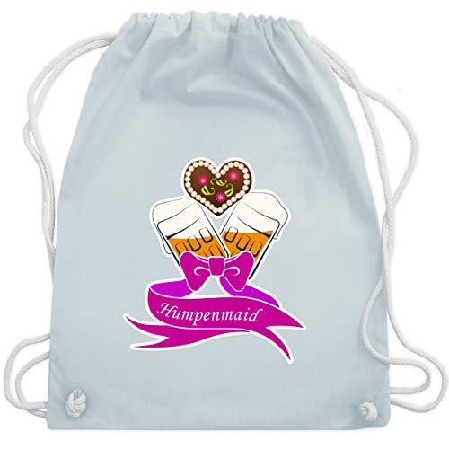 Shirtracer Oktoberfest & Wiesn Taschen - Humpenmaid Bier Dirndl - Unisize - Pastell Blau - Wasn - WM110 - Turnbeutel und Stoffbeutel aus Baumwolle
