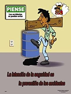 National Safety Compliance Accident Prevention Laminated Safety Poster, 18 x 24 Inches - Spanish