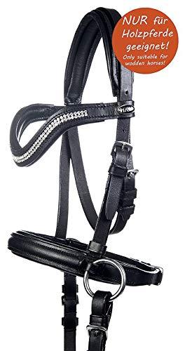 HKM Gebisslose Trense -Funny Horses- für Holzpferde, schwarz, Shetty