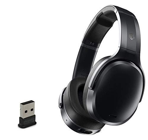 Skullcandy Crusher ANC Personalized Noise Canceling Wireless Bluetooth Headphone Bundle with Plugable USB 2.0 Bluetooth Adapter - Black