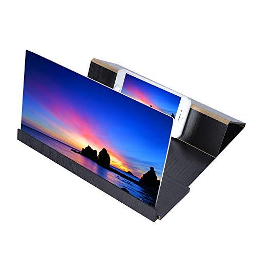Draagbare High Definition mobiele telefoon schermversterker, 3D HD mobiele schermvergroter, transparante waterdichte gsm-houder, voor verschillende gelegenheden(Zwart)