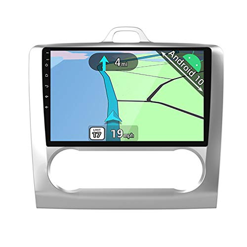 YUNTX PX6 Android 10 Autoradio Compatible con Ford Focus(2004-2011) - 4G+64G - GPS 2 DIN - Gratis Cámara - Soporte Dab / Control del Volante / USB / 4G / WiFi / Bluetooth 5.0 / MirrorLink / Carplay