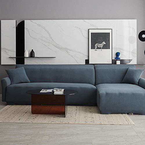 Fundas de sofá para sofás 1 Plaza, Funda de sofá elástica, Fundas de sofá Todo Incluido elásticas para Sala de Estar, Funda de sofá, Fundas de sofá de Dos plazas, Negro, 90-140 cm
