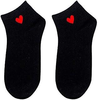 Calcetines Altos Y Bajos Para El Corazón Del Tobillo Para Mujer Calcetines Cortos Para Mujer Calcetines De Algodón