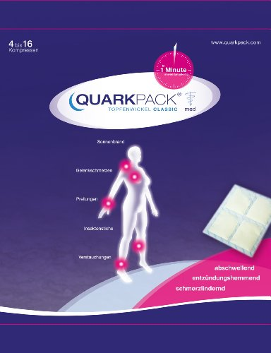 QUARKPACK® natürliche Quark-Kühlkompresse (Topfenwickel), 8 Stück Packung (bis zu 32 Anwendungen) Erste-Hilfe-Maßnahme bei Verletzungen