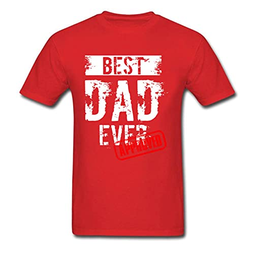 Best Dad Ever. Approved T Shirt Father Day Tshirt Mens T-Shirts 100% Cotton Tops Funny Letter Tees Europe Clothing Black