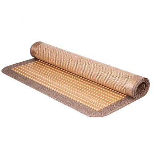 WXH matras zomer slaapmat dubbelzijdig bamboe rotan matras koelen ademende lakens mensen slaapzaal slaapkamer, 3 maten, 2 stijlen