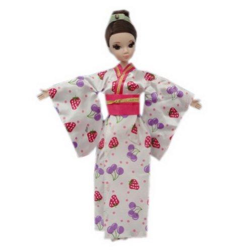 Blancho Belle Kimono Vetements Style Japonais Robe, 11.5'' / Fraise
