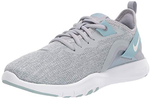 Nike Women's Flex Trainer 9 Cross, Wolf Grey/Pure Platinum-Ocean Cube-White, 8.5 Regular US