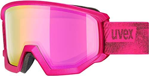 uvex Unisex-Erwachsene Athletic FM Skibrille, pink, Einheitsgröße