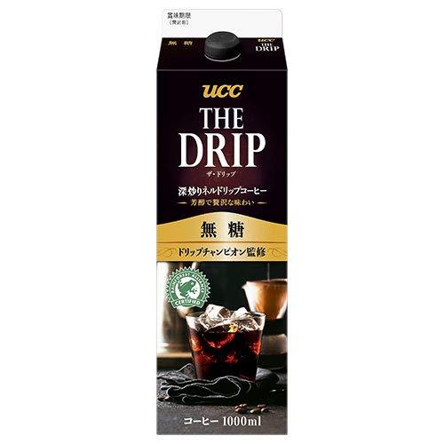 UCC THE DRIP(ザ・ドリップ) 無糖 1000ml紙パック×12本入×(2ケース)