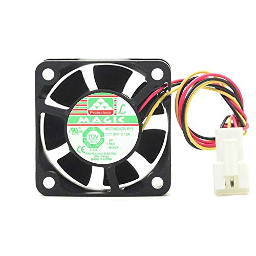 N / A Cooling Fan MGT4024ZR-R15,Server Cooler Fan MGT4024ZR-R15 24v 0.13A, Fanuc Machine Alarm Detection Fan for 40x40x15mm 3-Wire