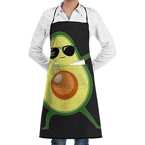 Pag Crane Tupfen Avocado Küchenschürze Lustige Print Chef Schürze für Grill, Grill, Kochen, Cosplay Party Schürze Männer, Geburtstag für Ehemann Freund