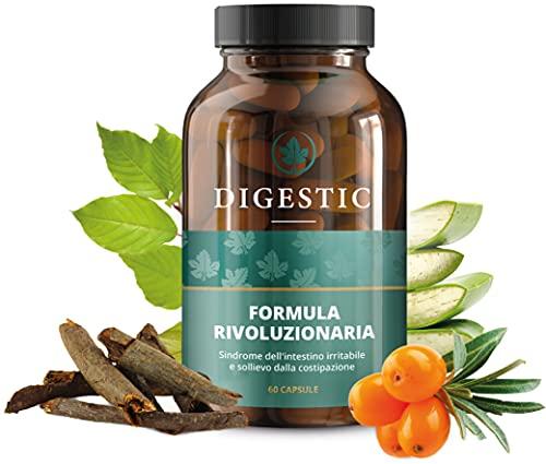Digestic - Lassativo per Sollievo dalla Costipazione - Ammorbidente per Feci, 100% Ingredienti Naturali - 60 Capsule - Integratore giornaliero, Lassativo Naturale Delicato