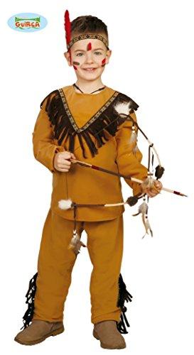 Guirca- Costume Indiano Bambino, Colore Marrone, 7-9 Anni, 8279