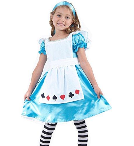 Costume de déguisement d'Alice au pays des merveilles pour filles âgées de 4 à 12 ans